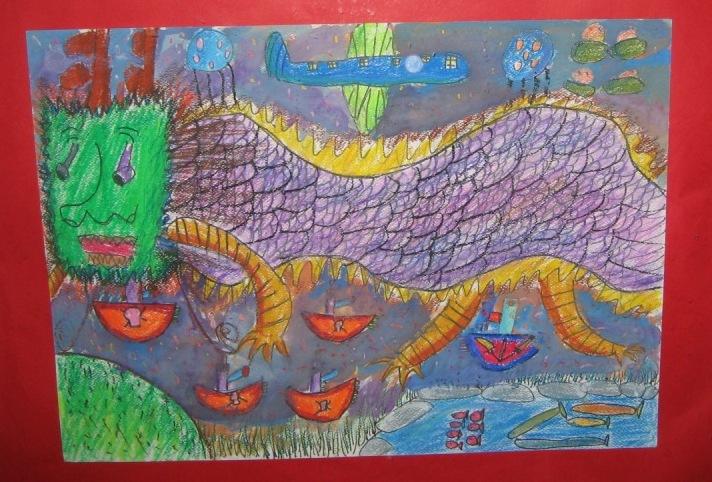 小学生画一幅画